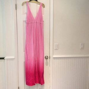 Pale Pink to hot pink Gypsy 05 maxi dress size L